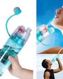 Sports bottle with spray